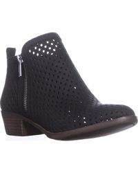 Lucky Brand - Lucky Basel3 Perforated Ankle Boots, Black Lugo - Lyst