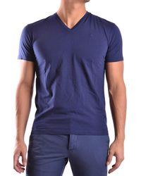 CoSTUME NATIONAL - Men's Mcbi074032o Blue Cotton T-shirt - Lyst