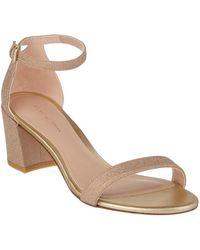 Stuart Weitzman - Simple Glitter Sandal - Lyst