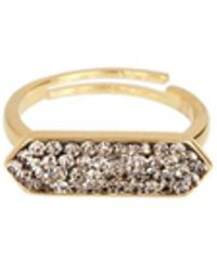 Saachi - Crystal Gold Plated Rings - Lyst