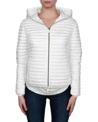 Save The Duck - Women's White Polyamide Down Jacket - Lyst