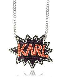 Karl Lagerfeld - Women's Multicolour Acrylic Necklace - Lyst