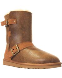 UGG - Australia Classic Short Dylyn Winter Boots, Bomber Jacket Chestnut - Lyst