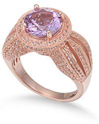Suzy Levian - Sterling Silver 4.37 Tcw Purple Amethyst Ring - Lyst