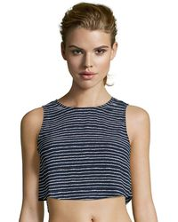 Romeo and Juliet Couture - Stripe Crop Top - Lyst