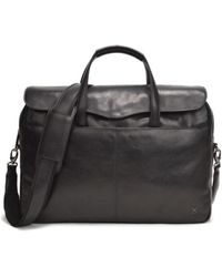 TERRACOMO New York - Cadiz Leather Briefcase - Black Vt - Lyst