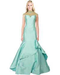 Mac Duggal - High Neck Embellished Mermaid Gown - Lyst