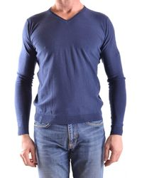 Fred Mello - Men's Blue Cotton Sweater - Lyst