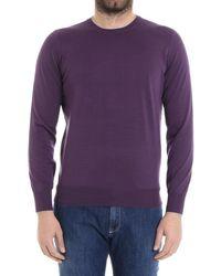 Brunello Cucinelli - Men's Purple Cotton Sweater - Lyst