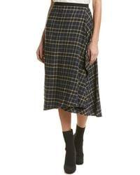 Vince   Draped Wool-blend Pencil Skirt   Lyst