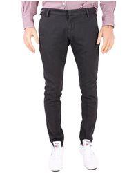 Entre Amis - Men's Black Cotton Trousers - Lyst