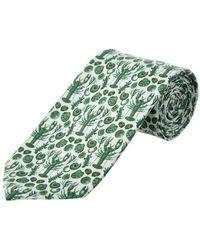Cole Haan - Green Clam Bake Silk-blend Tie - Lyst