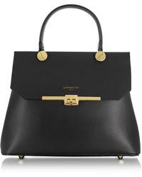 Le Parmentier - Women's Black Leather Handbag - Lyst