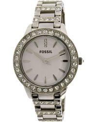 Fossil - Women's Jesse Es2362 Silver Stainless-steel Japanese Quartz Fashion Watch - Lyst