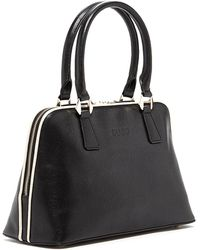 Susu - Melissa Leather Dome Satchel Top Handle Black Bag For Women - Lyst