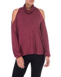 Bobeau - Bey Cold Shoulder Cosy Tee - Lyst