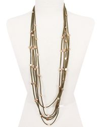 Sparkling Sage - 14k Plated Choker & Layer Necklace - Lyst
