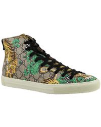 Gucci - Printed High-top Trainers - Lyst