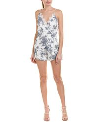 4si3nna | Embroidered Romper | Lyst