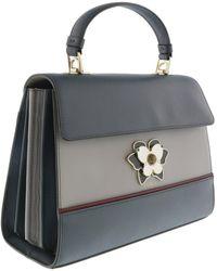 Furla - Bog9 Dark Grey/ Light Grey Top Handle Bag - Lyst