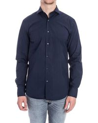 Aspesi - Men's Blue Cotton Shirt - Lyst