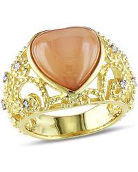 Catherine Malandrino | Heart Filigree Gemstone Ring | Lyst