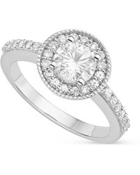 Charles & Colvard - Forever Classic Round 6.0mm Moissanite Engagement Ring, 1.08cttw Dew - Lyst