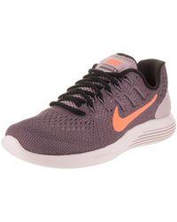 b3626547f1e2 Lyst - Nike Lunarglide 6 Women Round Toe Synthetic Blue Running Shoe ...