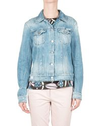 Replay - Women's Blue Cotton Jacket - Lyst