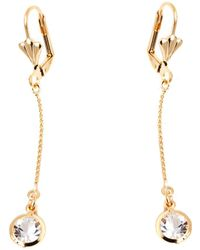 Peermont - Gold And Crystal Elements Chain Drop Earrings - Lyst