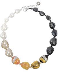 Antica Murrina - Moretta Pastel Glass Beads W/24kt Gold Leaf Necklace - Lyst