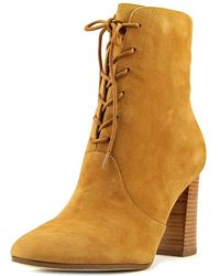 Marc Fisher - Edina Women Round Toe Suede Brown Ankle Boot - Lyst