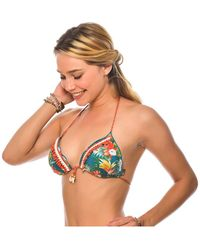 Banana Moon - Green Bikini Top Triangle Flowerbloom Sirvo - Lyst