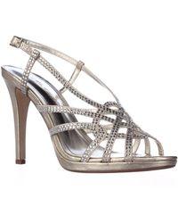 Caparros - Vega Rhinestone Studded Slingback Dress Sandals, Gold Metallic - Lyst