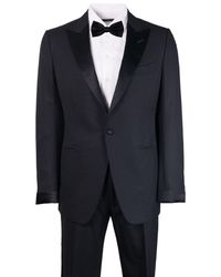 Tom Ford - Mens Black Wool Satin Lapel O Connor Two Piece Suit - Lyst