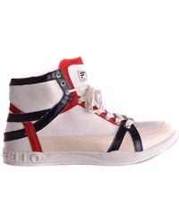 Frankie Morello - Men's White Polyester Hi Top Sneakers - Lyst