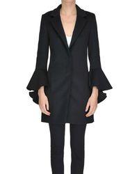 Patrizia Pepe - Women's Mcglcsc04030i Black Wool Coat - Lyst