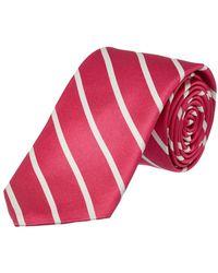 Ike Behar - Hot Pink Sunday Stripe Silk Tie - Lyst