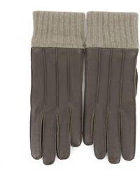 Ferragamo - Men's Brown Leather Gloves - Lyst