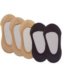 Memoi - 5pk Liner Socks - Lyst