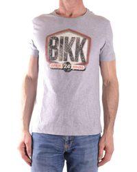 Bikkembergs - Men's Mcbi042106o Grey Cotton T-shirt - Lyst