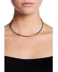 Adornia - Black Rhodium Silver Collar Necklace - Lyst