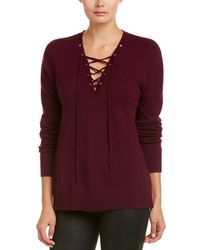 The Kooples - Lace-up Wool & Cashmere-blend Sweater - Lyst