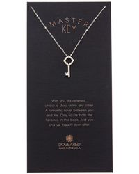 Dogeared - Halo Collection Master Key Silver Necklace - Lyst