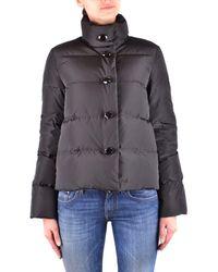 Armani Jeans - Women's Black Polyamide Down Jacket - Lyst