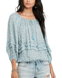 Denim & Supply Ralph Lauren - Floral Print Gauze Top Blouse - Lyst