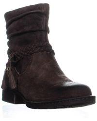 Born - Ouvea Braid Ankle Boots, Dark Brown - Lyst