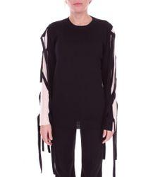Blugirl Blumarine - Women's Black Cotton Sweatshirt - Lyst
