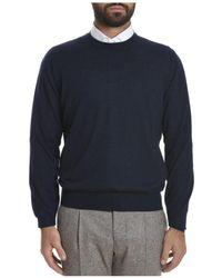 Brunello Cucinelli - Men's Blue Wool Sweater - Lyst