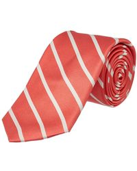 Ike Behar - Salmon Sunday Stripe Silk Tie - Lyst